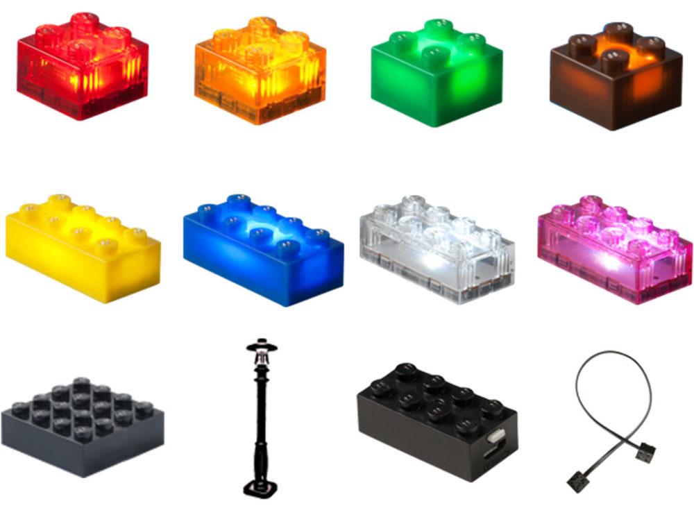Lego Led Beleuchtung   Kickstarter Light Stax Led Lichter Fur Die Lego City Zusammengebaut