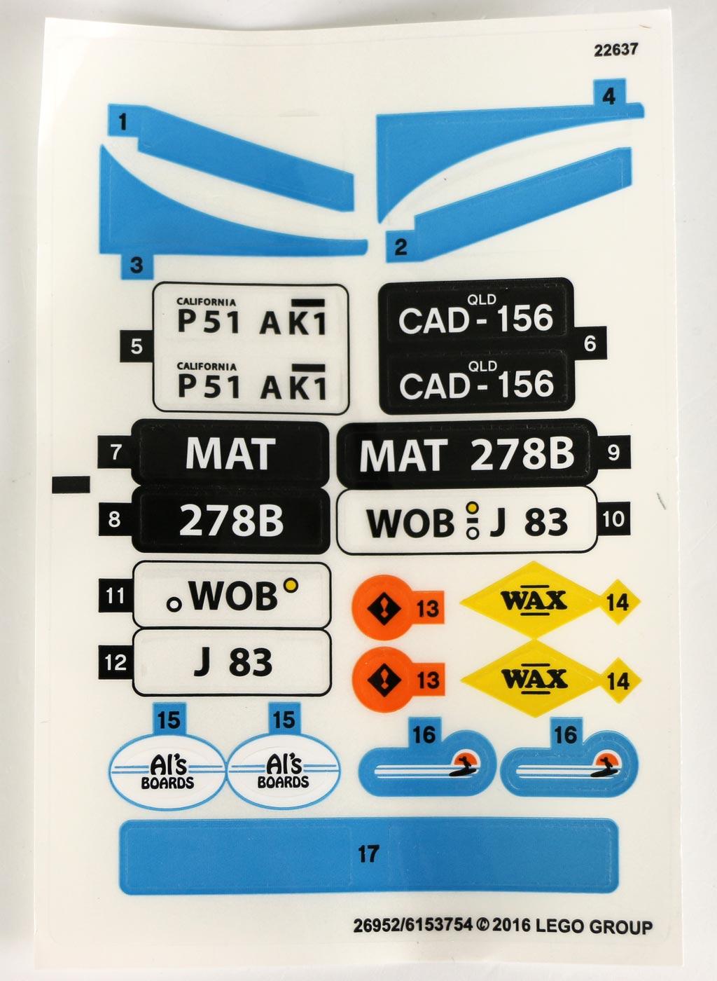 Sticker, unter anderem mit drei alternativen Nummernschildern | © Andres Lehmann / zusammengebaut.com