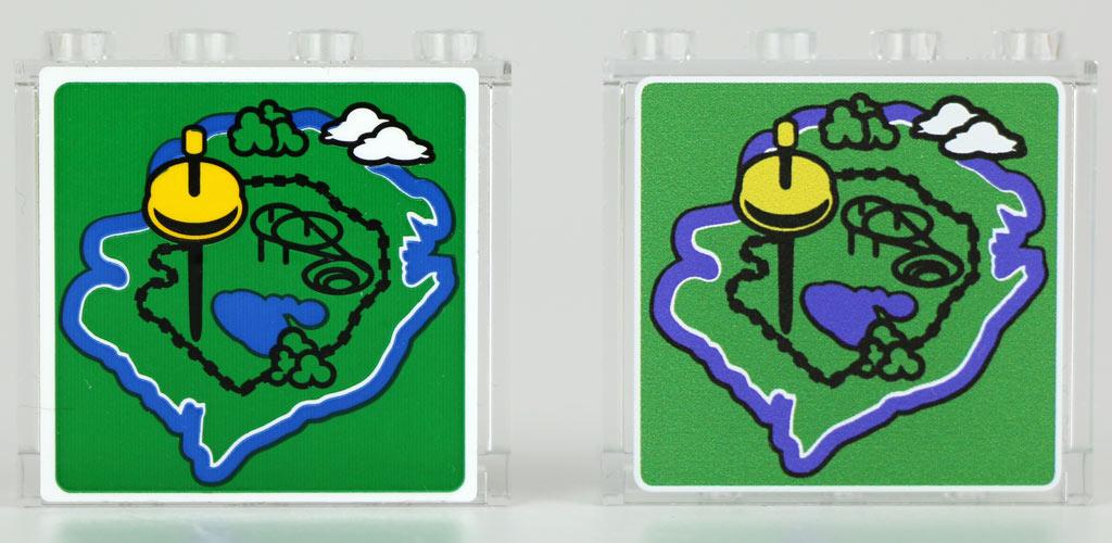 Links der Sticker, rechts der Druck | © Andres Lehmann / zusammengebaut.com