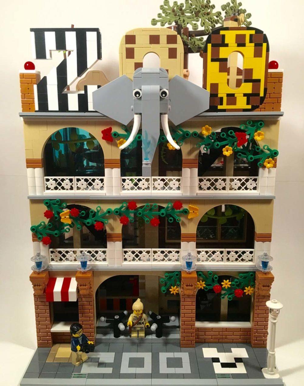 lego ideas moc modular zoo zusammengebaut. Black Bedroom Furniture Sets. Home Design Ideas