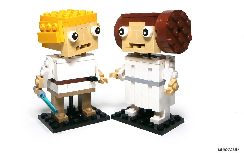 Luke und Leia | © LegoJalex / LEGO Ideas
