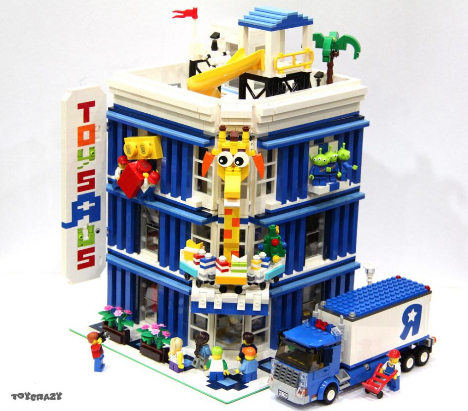 Lego Sets At Toys R Us : Lego moc toys r us als modular building zusammengebaut