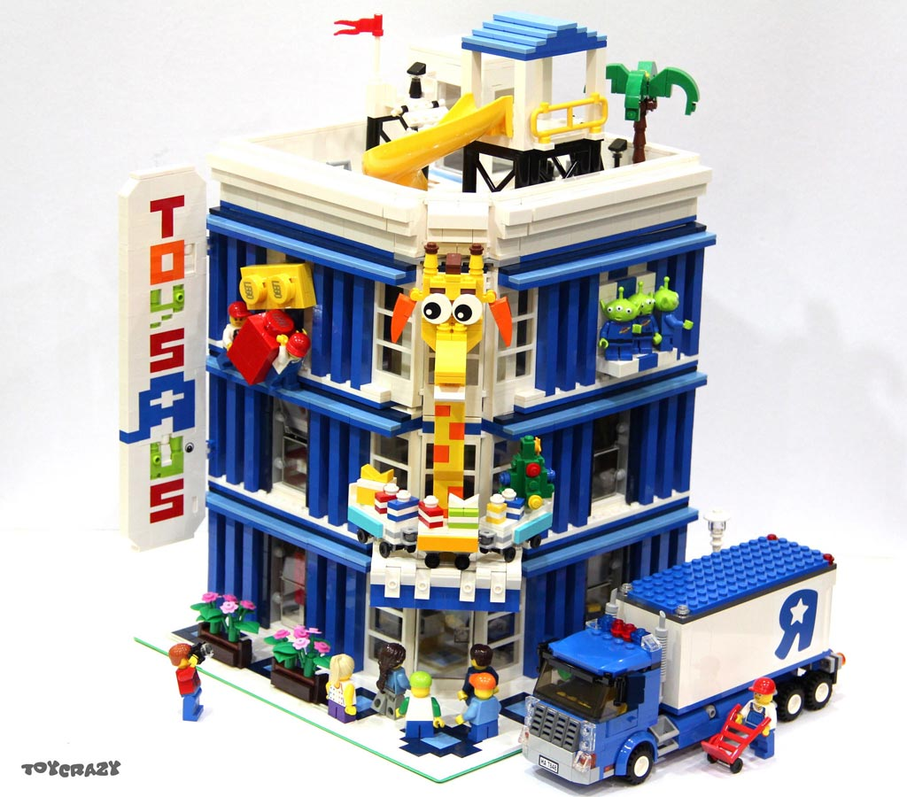 Toys R Us Legos For Girls : Lego moc toys r us als modular building zusammengebaut