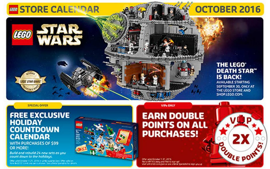 US LEGO Store Flyer Oktober 2016  | © LEGO Group