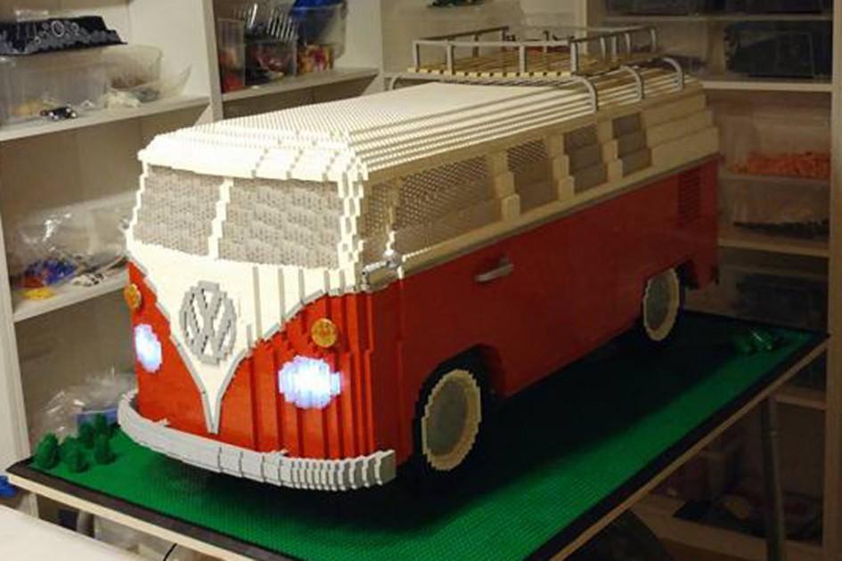 lego volkswagen t1 bulli campingbus 10220 in xxl. Black Bedroom Furniture Sets. Home Design Ideas