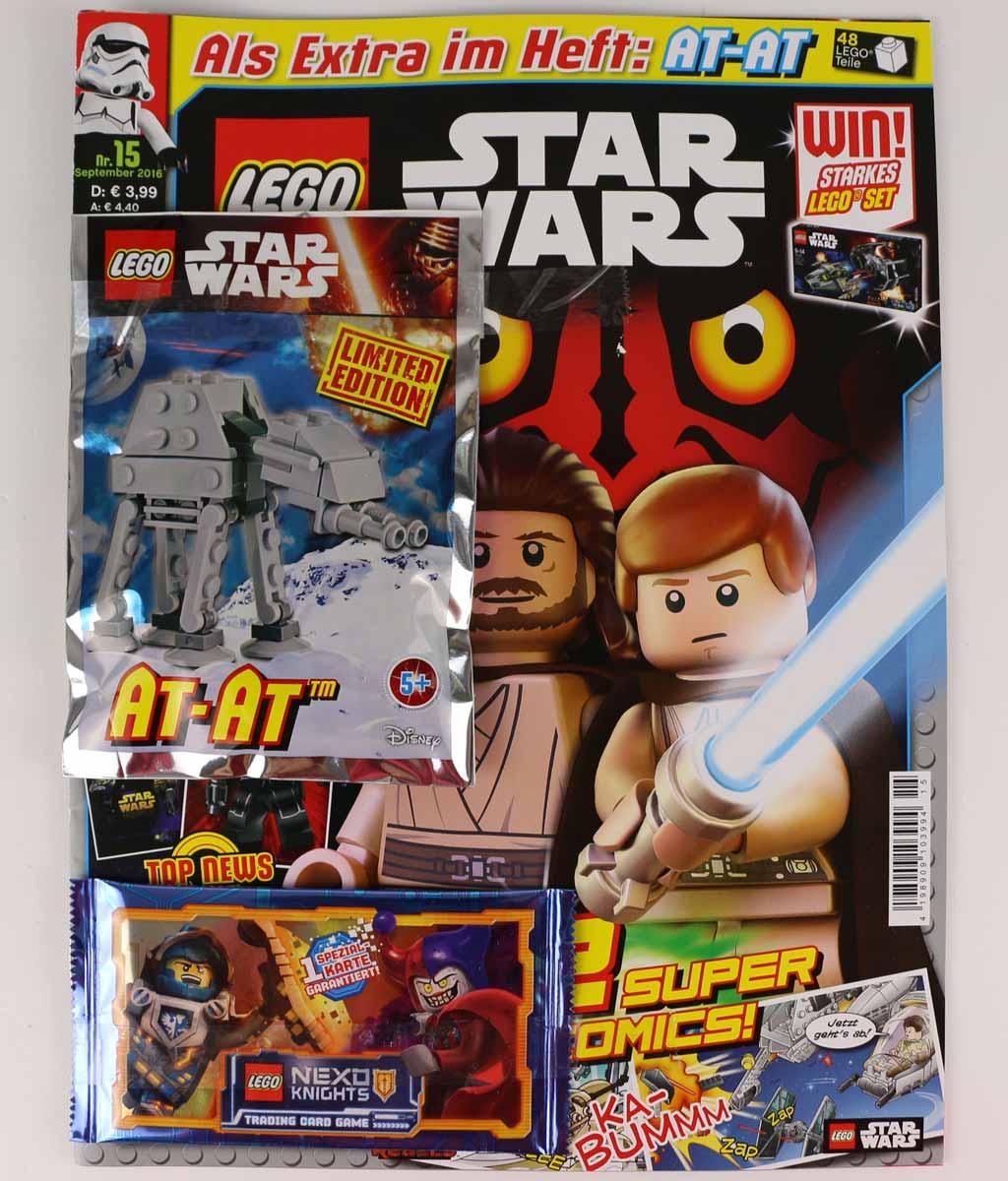 lego star wars magazin mit at at ausgabe 15 im review zusammengebaut. Black Bedroom Furniture Sets. Home Design Ideas