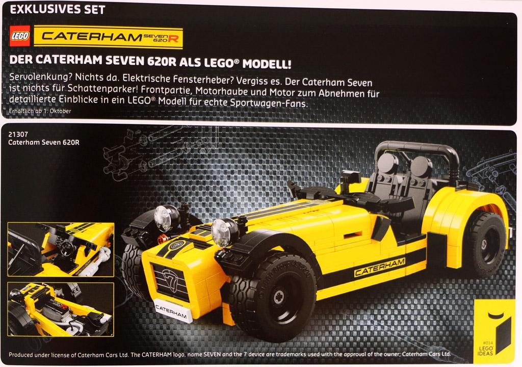 Im LEGO Store Flyer zeigt sich der Caterham Seven 620R | © Andres Lehmann / zusammengebaut.com