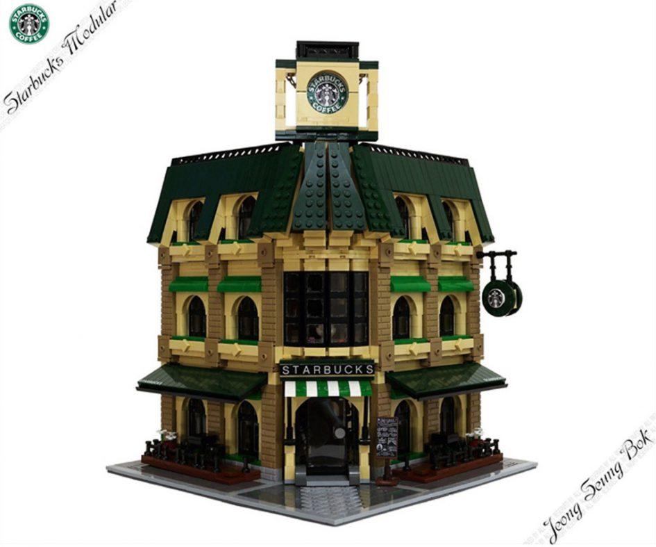 LEGO Ideas MOC: Starbucks Cafe Modular   © JeongSeungbok / LEGO Ideas