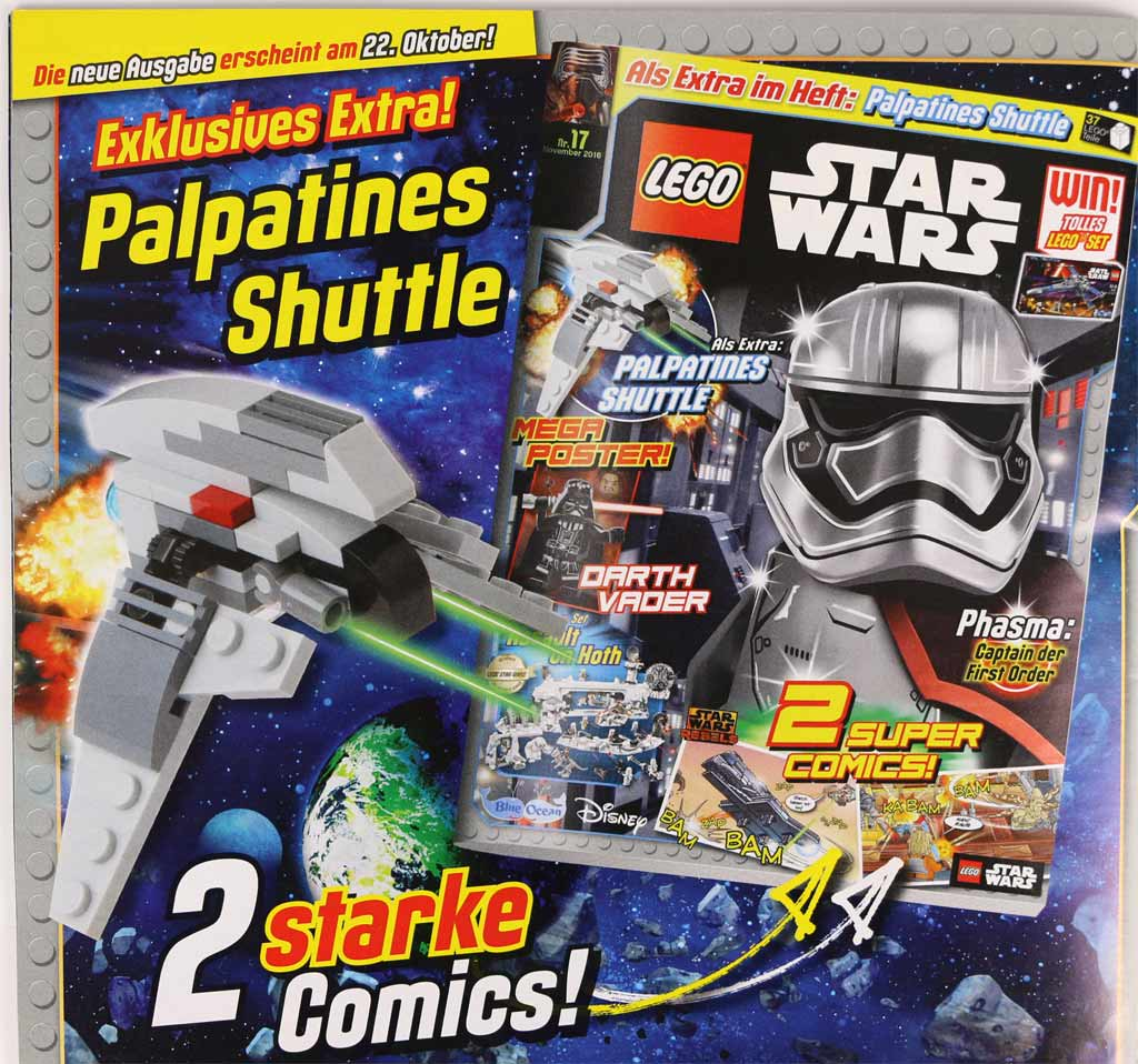 LEGO Star Wars Magazin: Im November mit Palpatines Shuttle | © Andres Lehmann / zusammengebaut.com