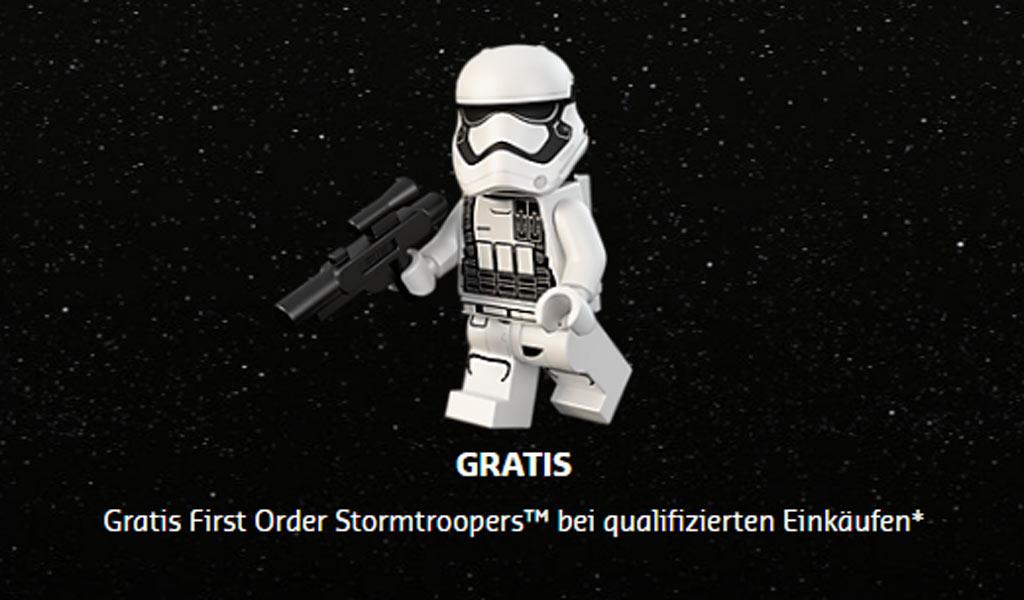 Bei allen LEGO Star Wars Einkäufen kostenlos mit in der Kiste: First Order Stormtrooper | © LEGO Group