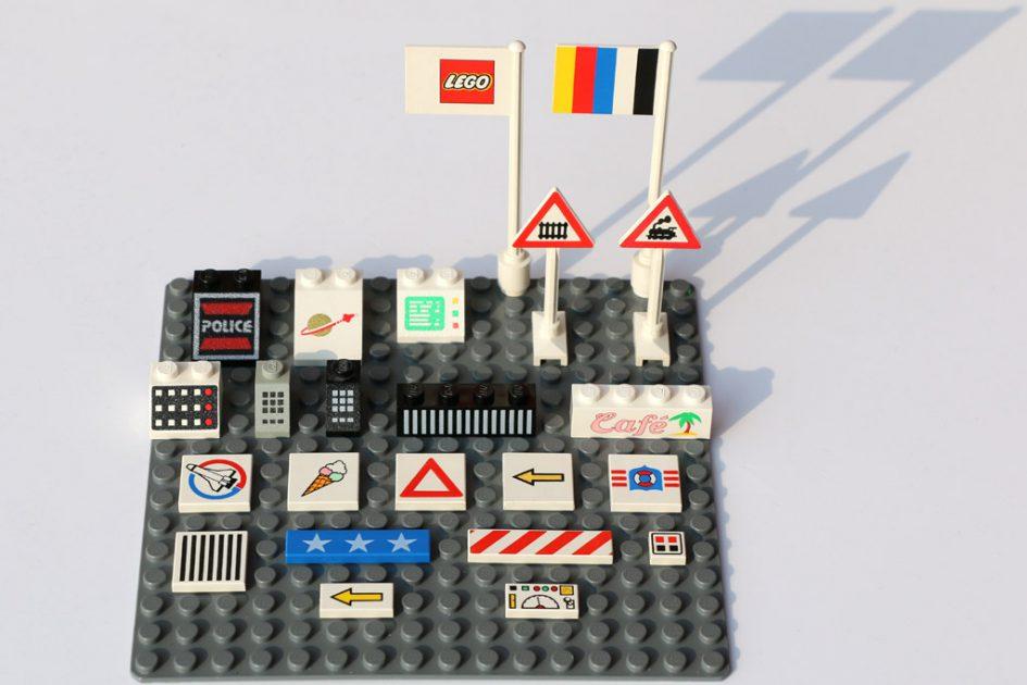Bedruckte LEGO-Steine aus den 80er und 90er Jahren | © Andres Lehmann / zusammengebaut.com