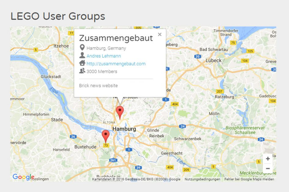 RLUG: Zusammengebaut ist auf der Karte | © LEGO Group