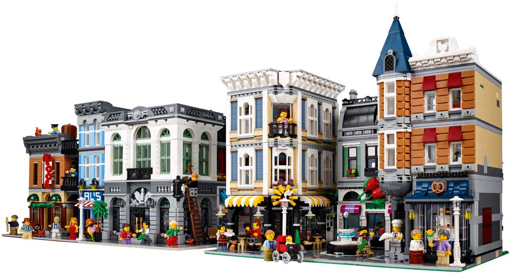 LEGO Detektivbüro, Brick Bank und der neue Assembly Square | © LEGO Group