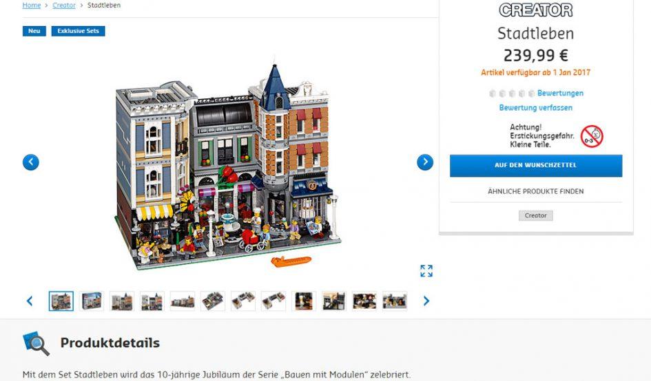 LEGO Creator Expert Stadtleben (10255)   © LEGO Group
