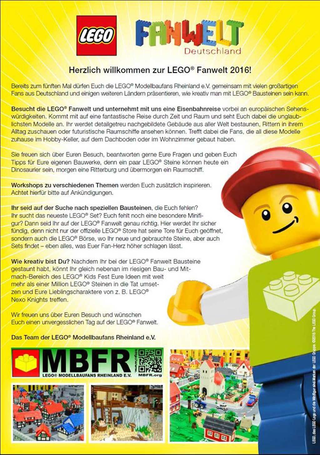 LEGO Fanwelt: Das ist geplant   © LEGO Modellbaufans Rheinland e.V.