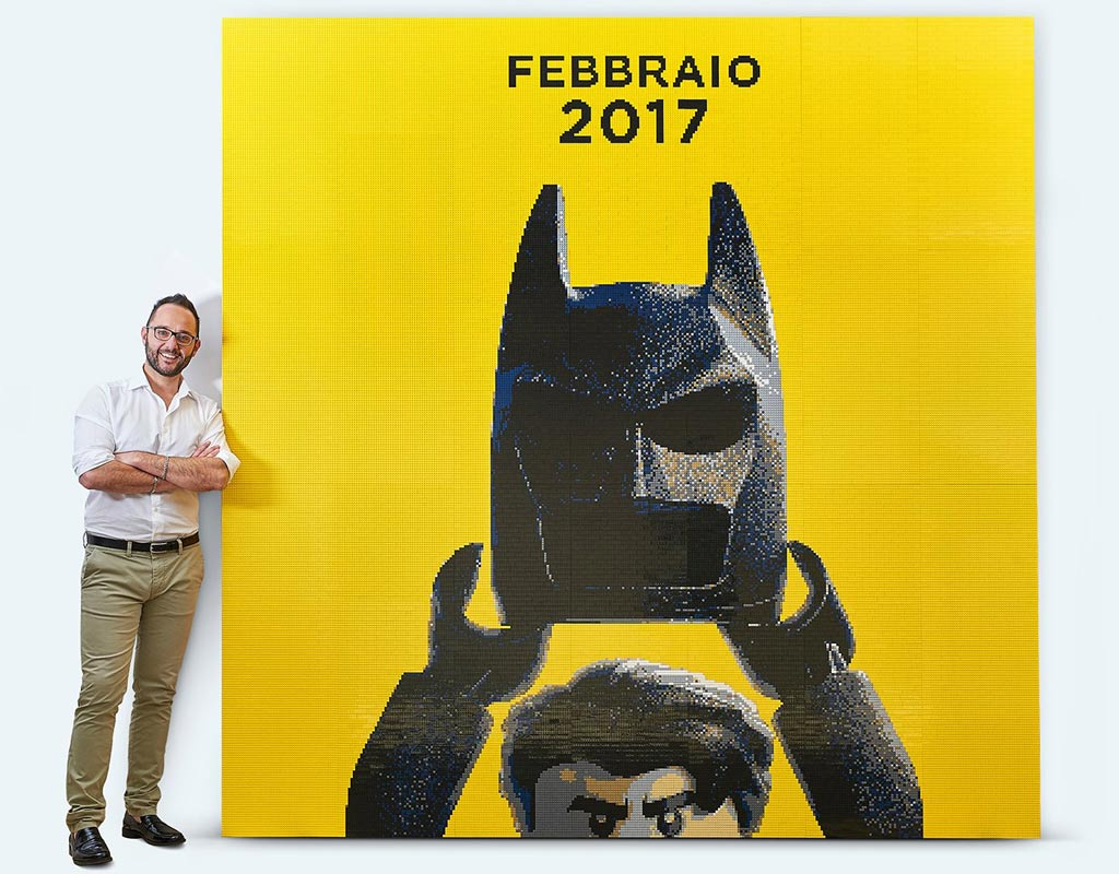 The LEGO Batman Movie: Steiniges Filmplakat von Riccardo Zangelmi | © Riccardo Zangelmi