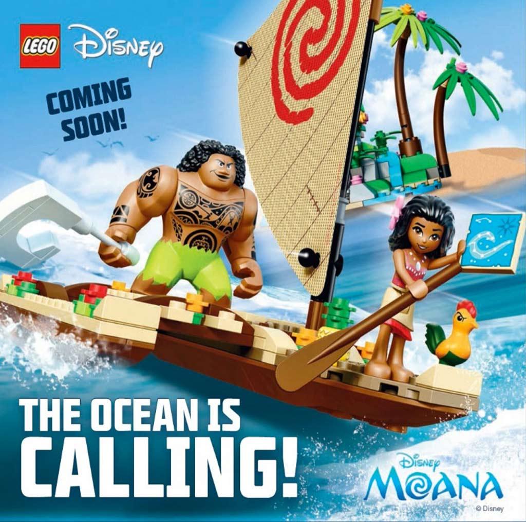 Hinweis im neuen LEGO Club Magazin für Girls: Moana, hierzulande Vaiana   © LEGO Group