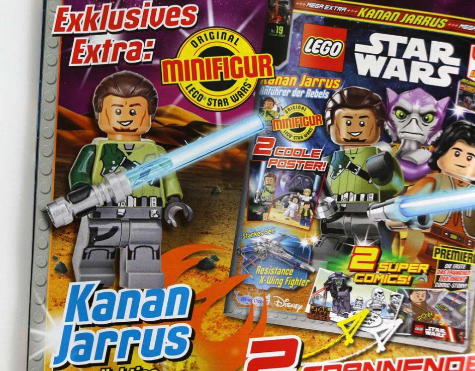 lego star wars magazin im januar mit exklusiver minifigur zusammengebaut. Black Bedroom Furniture Sets. Home Design Ideas