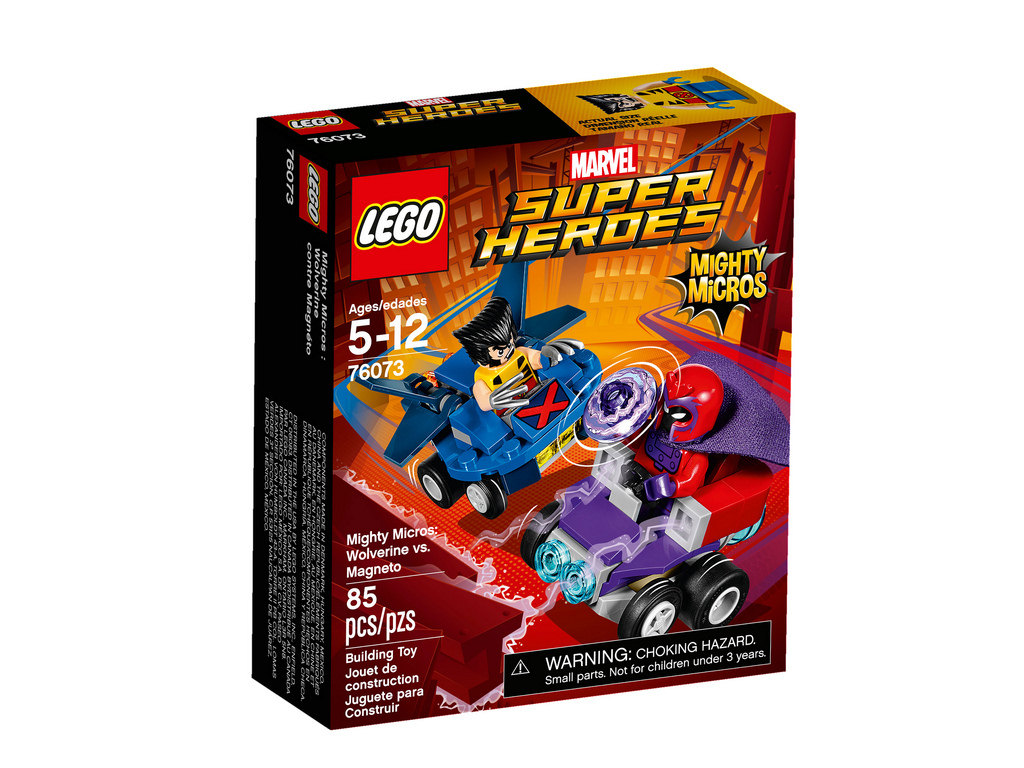 Mighty Micros Wolverine vs. Magneto 76073   © LEGO Group