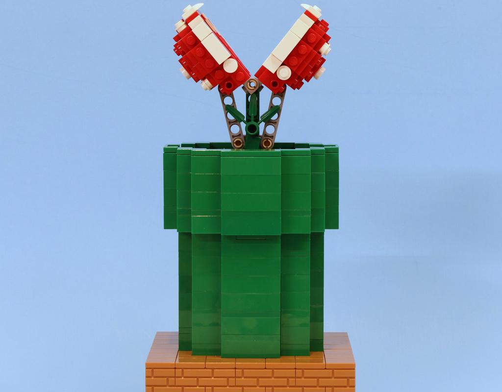 LEGO Super Mario MOC: Fleischfressende Pflanze | zusammengebaut