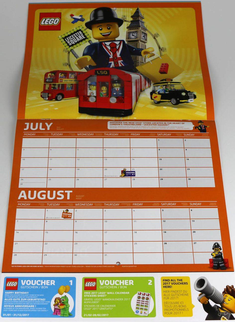 lego store wandkalender 2017 im review mehr schein als