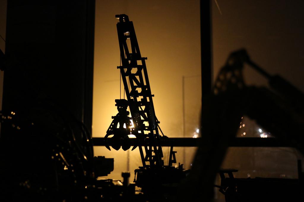 Nächtens wird auf der Baustelle nicht gearbeitet. | © Andres Lehmann / zusammengebaut.com