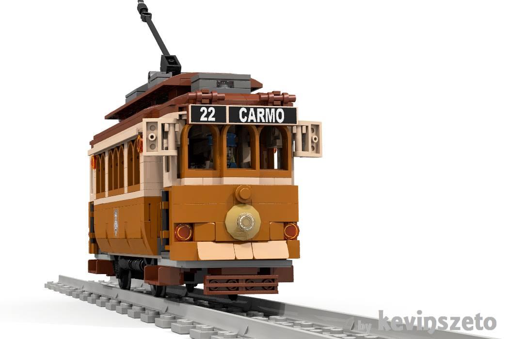 Vintage Tram: Die würde sich wohl in so manch LEGO City gut machen! | © Kevin Szeto / LEGO Ideas