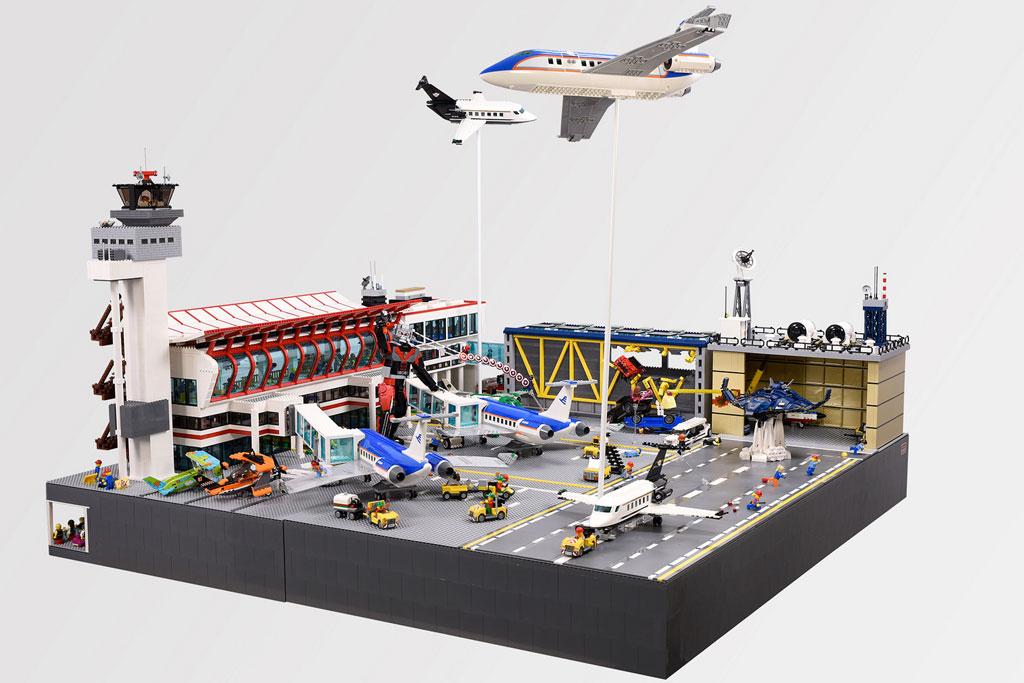 Lego Moc Airport Diorama Civil War Scene