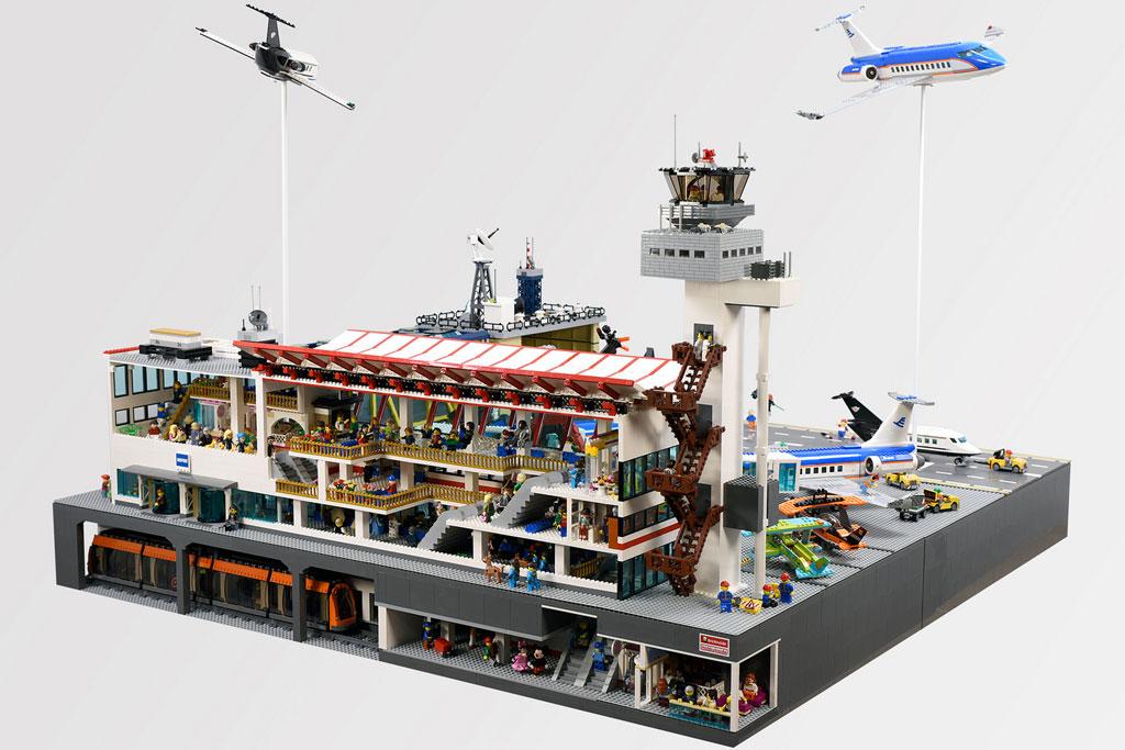 Lego Moc Airport Diorama Civil War Scene Zusammengebaut