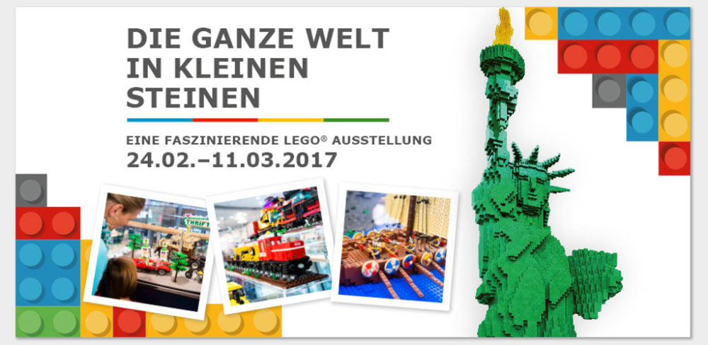lego ausstellung im luv shopping einkaufscenter bei l beck zusammengebaut. Black Bedroom Furniture Sets. Home Design Ideas