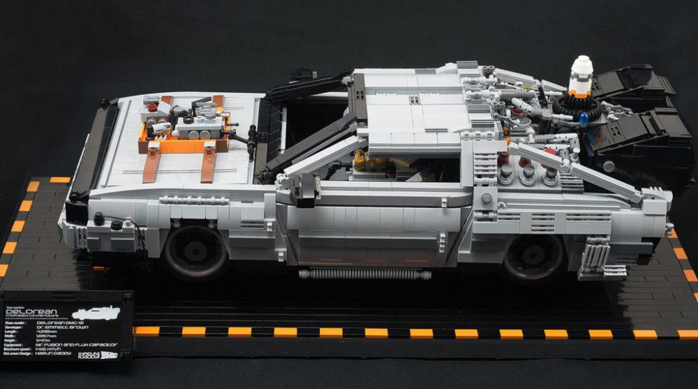 Lego Moc Delorean Zur 252 Ck Zu Den Steinen Zusammengebaut