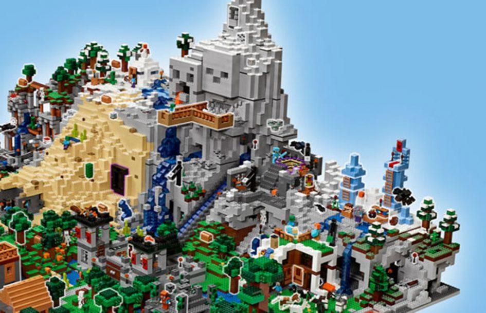 lego minecraft the mountain cave 21137 gr tes set der. Black Bedroom Furniture Sets. Home Design Ideas