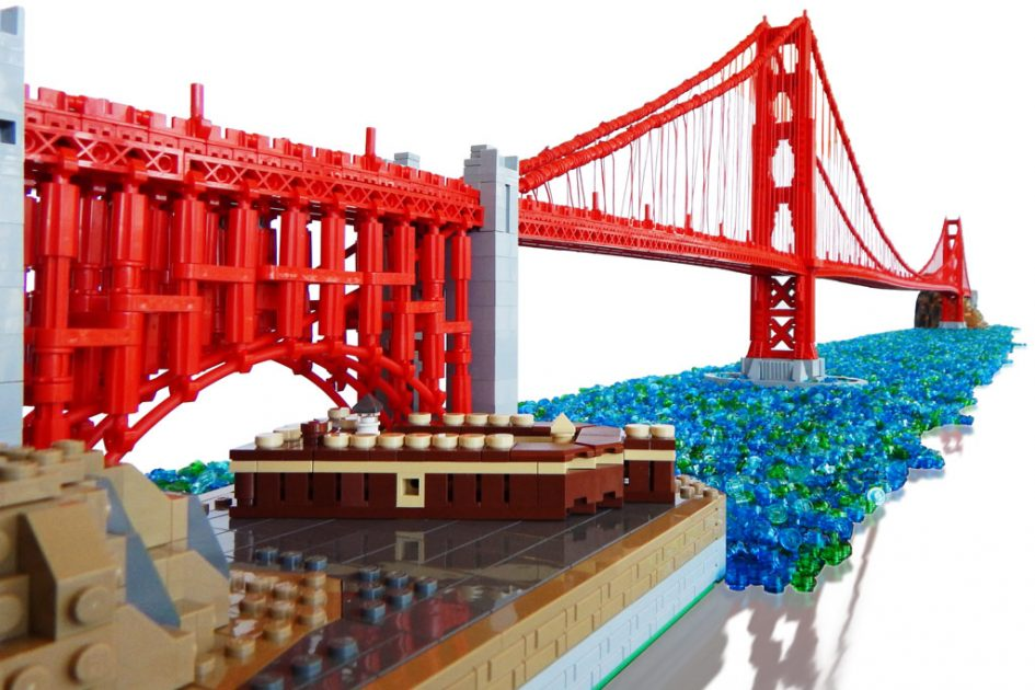 how to build a lego golden gate bridge