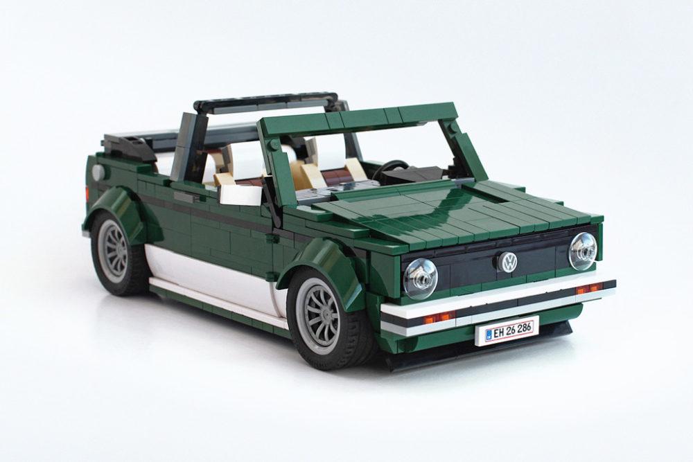 Lego Moc Vw Golf Mk1 Cabriolet Mit Mini Cooper Steinen Zusammengebaut