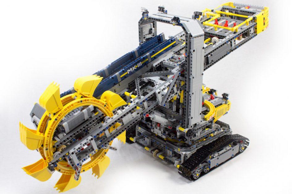 lego technic schaufelradbagger 42055 im review und tipps zur optimierung zusammengebaut. Black Bedroom Furniture Sets. Home Design Ideas