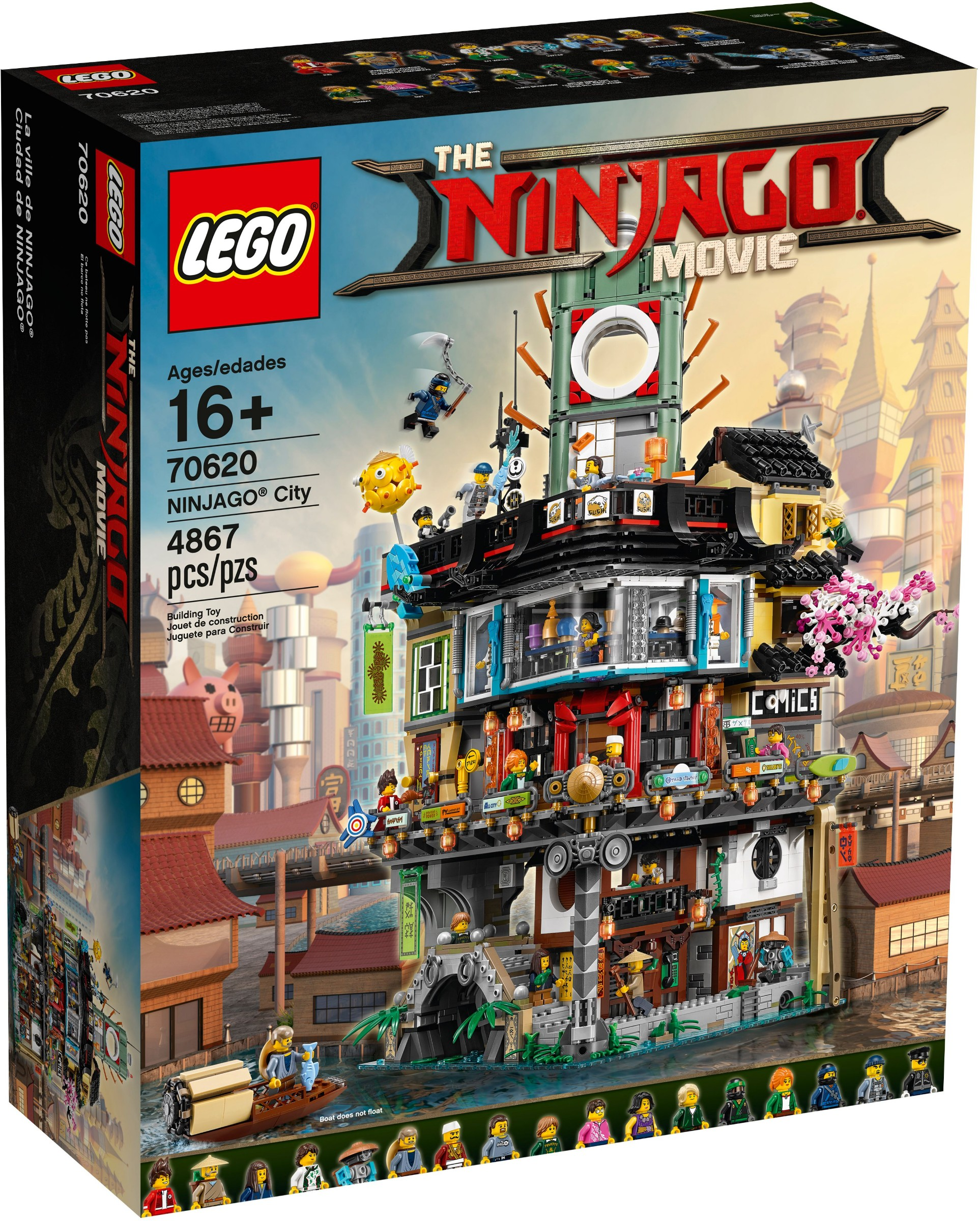 the lego ninjago movie ninjago city 70620 vorgestellt. Black Bedroom Furniture Sets. Home Design Ideas