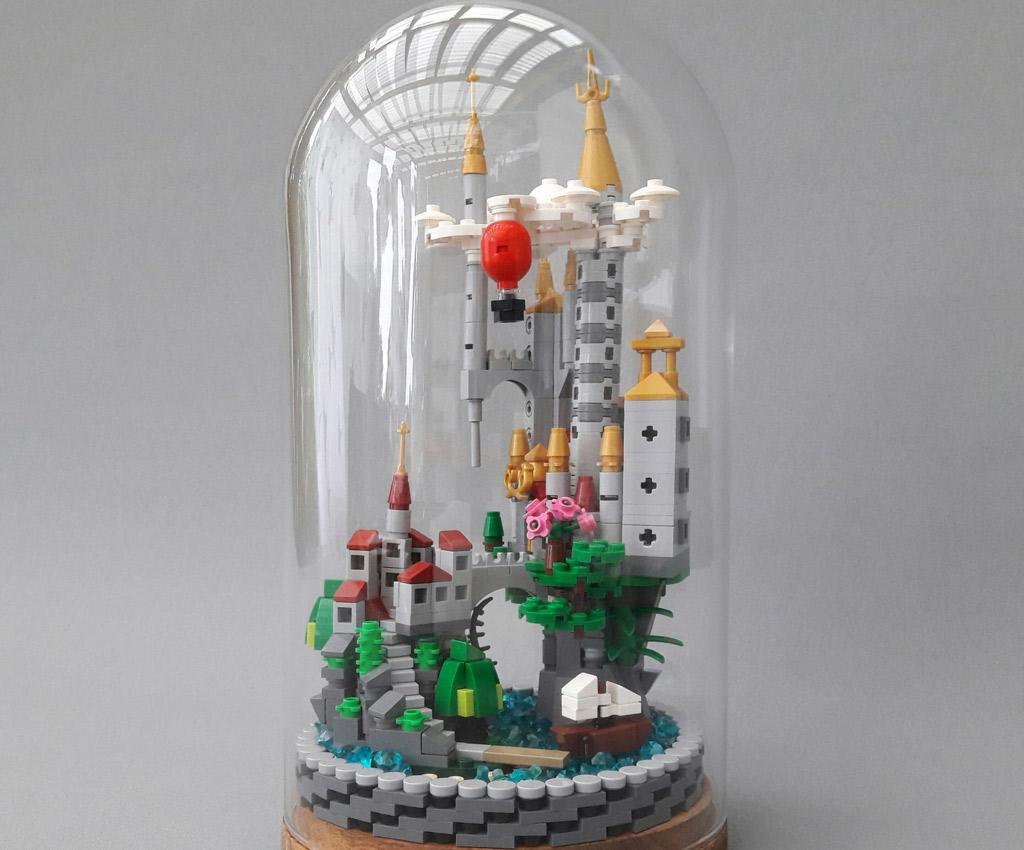 Lego Trifft Auf Ikea Schloss In Der Glasglocke Zusammengebaut