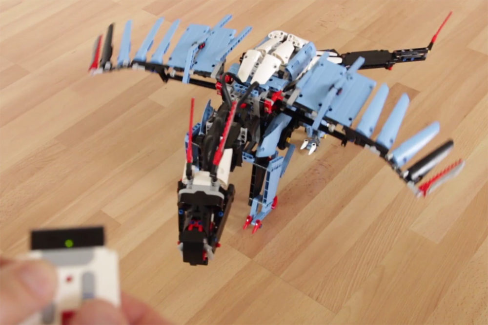 Camera Lego Mindstorm : Lego mindstorms moc der blaue drachen zusammengebaut