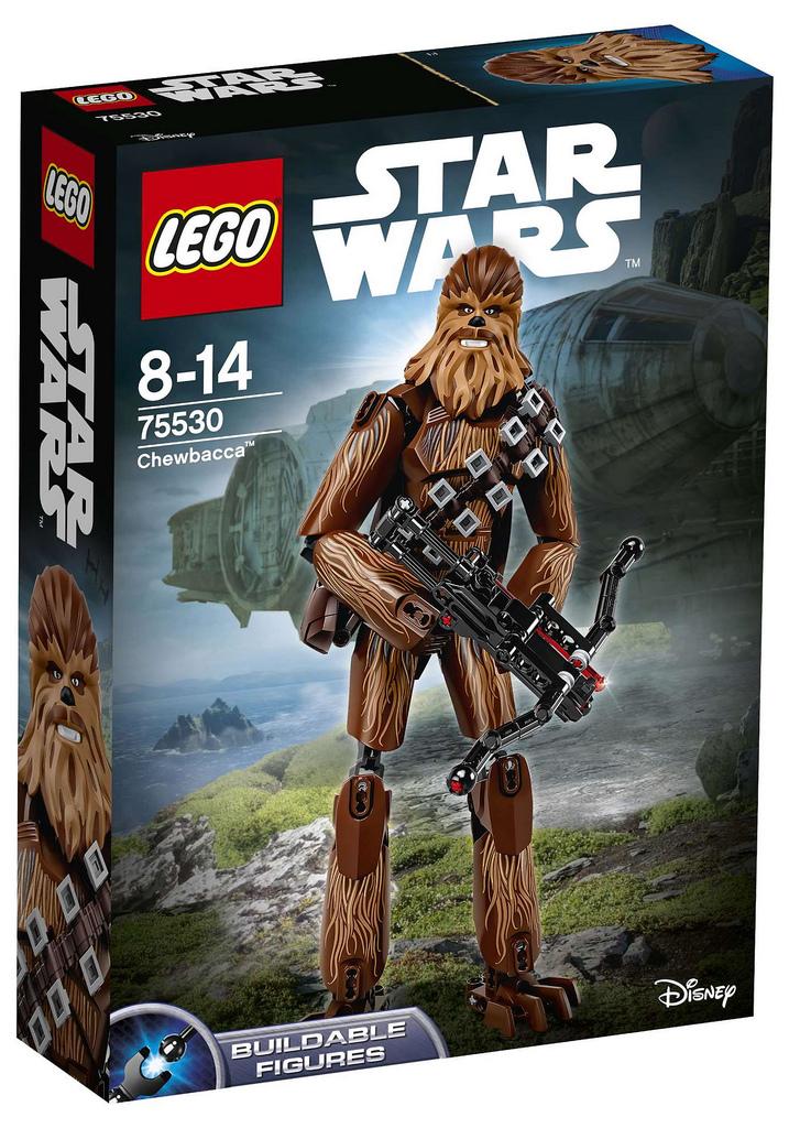 Lego Star Wars Actionfigur Chewbacca 75530 Rey 75528 Und