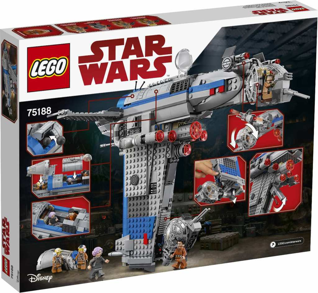 Lego star wars resistance bomber 75188 offizielle bilder - Croiseur star wars lego ...