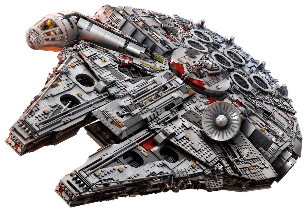 Lego star wars ucs millennium falcon 75192 vorgestellt for Interieur faucon millenium
