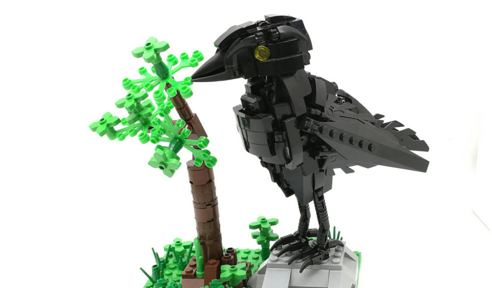 Lego-Crow by John Cheng