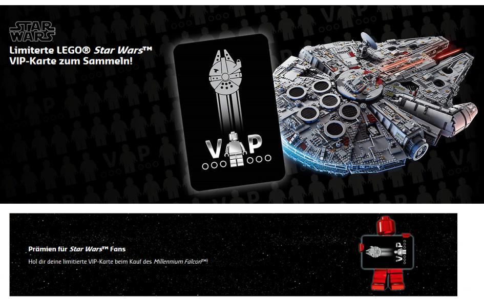 LEGO Star Wars UCS Millennium Falcon 75192: Limitierte VIP-Karte ...
