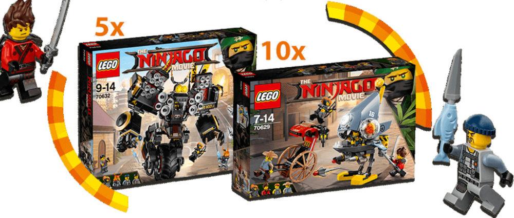 The LEGO Ninjago Movie: Piranha Attack 70629 und Quake Mech 70632