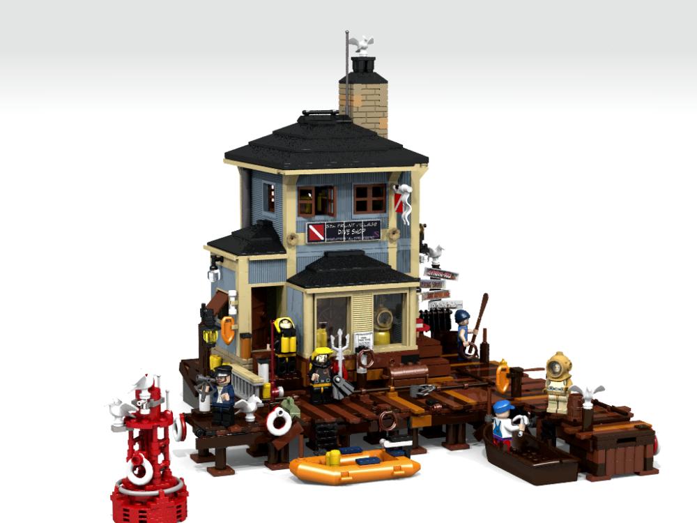 Lego ideas the dive shop hat unterst tzer for The dive shop