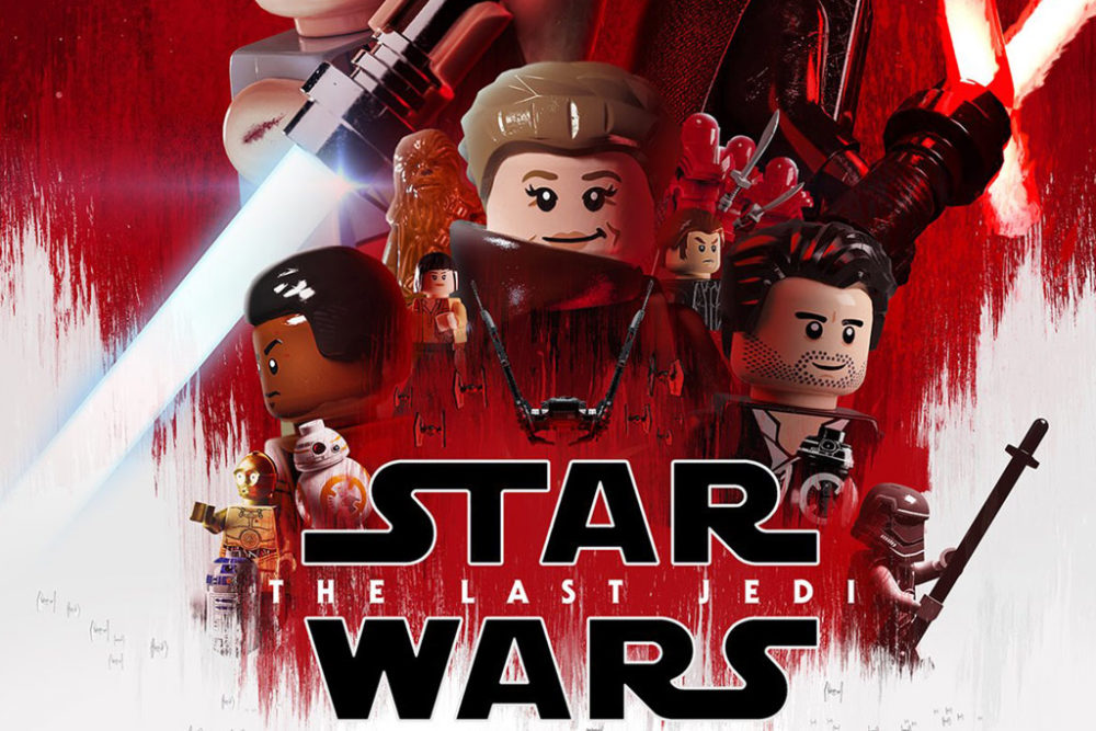 Star Wars The Last Jedi: Filmposter in LEGO | zusammengebaut