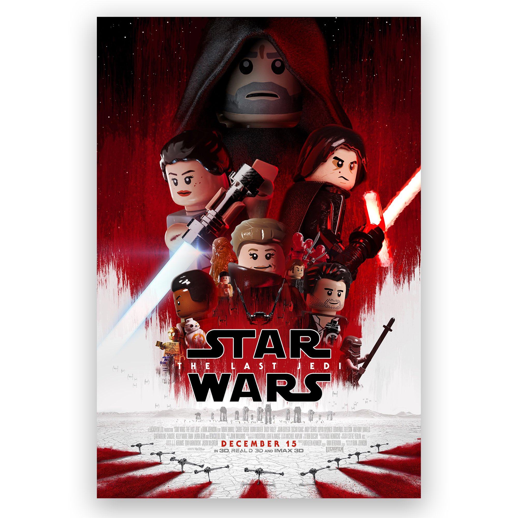 Star Wars The Last Jedi: Filmposter in LEGO | zusammengebaut
