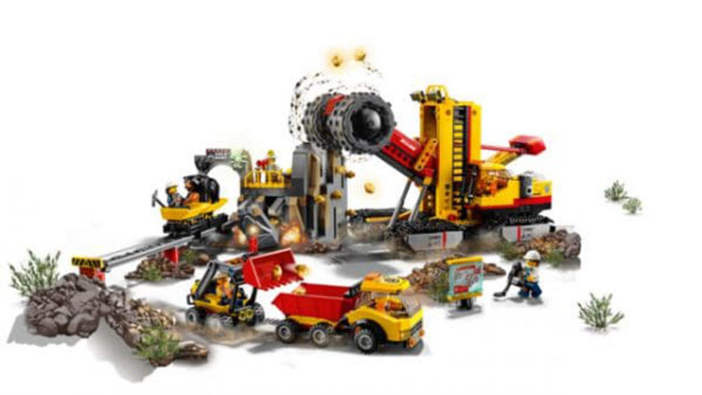 Lego City 2018 Neuheiten Mining Experts Site 60188 Mit Achterbahn
