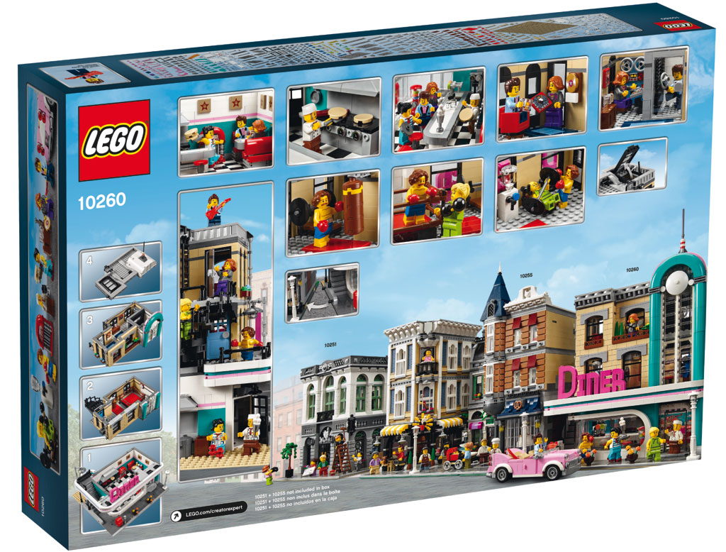lego creator expert amerikanisches diner 10260 deutsche. Black Bedroom Furniture Sets. Home Design Ideas
