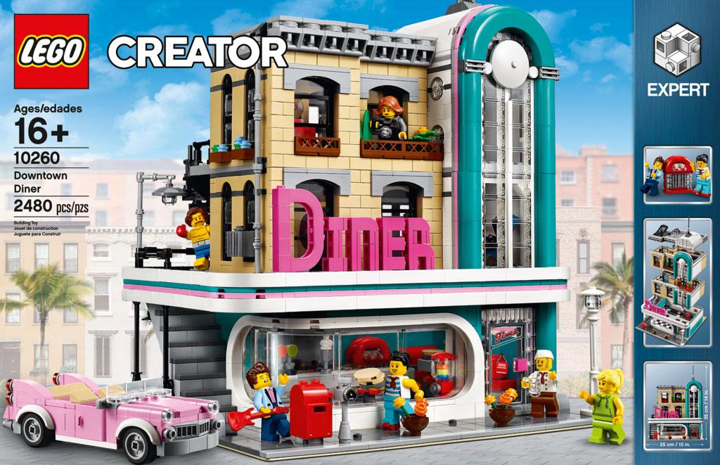 lego downtown diner 10260 modular building 2018 vorgestellt. Black Bedroom Furniture Sets. Home Design Ideas